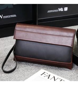 7) Men Classic High Quality Premium PU Leather Hand Carry Clutch Bag Tangan