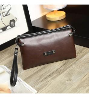 1) Men Classic High Quality Premium PU Leather Hand Carry Clutch Bag Tangan