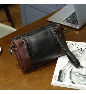 6) 2in1 Man Classic High Quality PU Leather Clutch Sling Bag Bag Tangan