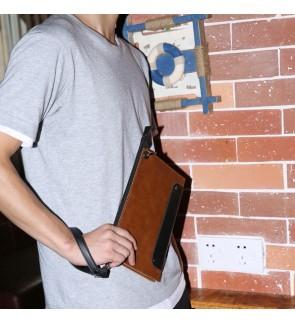 13) 8008 Men Classic Premium PU Leather Hand Carry Clutch Bag Tangan